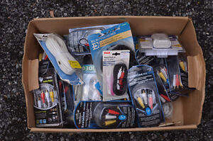 Lot of RCA Cables, surge protector and power cables. NEW!!!!