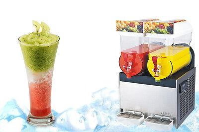 Commercial  2 Tank Frozen Drink Slush Slushy Making Machine Smoothie Maker 30 L for sale  Shipping to Nigeria