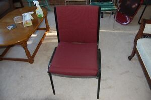 Chair, office style, very comfortable, like new Burgundy fabric