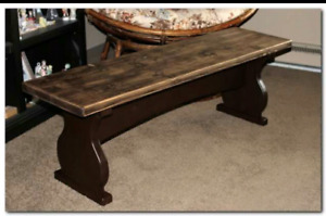 Rustic Table Bench  (kelowna)