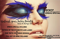 Spring Beauty Special $130 (Tinting ,Lash Extensions & Teeth )