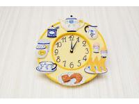 Novelty Kitchen Breakfast Clock