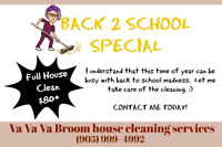 Back 2 School house cleaning special