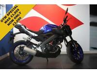 2018 67 YAMAHA MT 125 ABS ***2018 ONLY 2,519 MILES***