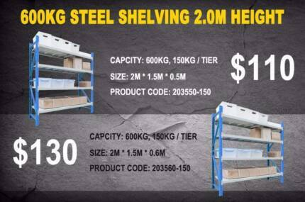 NEW Blue and White Garage  Warehouse Shelving Long Span
