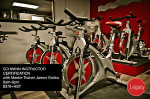 Fitness Instructor Certifications - SCHWINN/ BOOTCAMP/ CPR