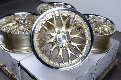 """17"""" Gold Wheels Rims 5x112 E320 E550 S350 S430 Volkswagen Phaeton Passat Rabbit"""
