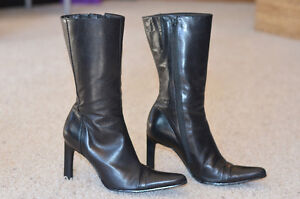 Ladies Black Leather Dress Boot Edmonton Edmonton Area image 2