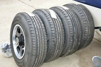 ** 4 Assasin alloy rims with Hankook LT245-70-17 tires **