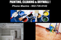 AVAILABLE FOR CLEANING, PAINTING OR DRYWALL WORK !!!