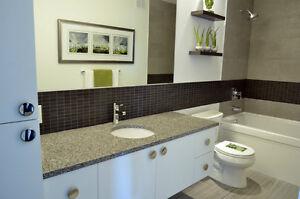 GRANITE/QUARTZ BATHROOM VANITY TOPS! Lots of colors available.
