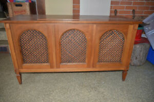 Solid wood vintage stereo cabinet