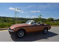 MGB LE ROADSTER – 1981 Manufactured – 1988 Registered **7000 MILES** Concourse