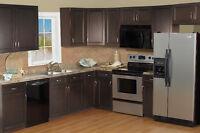 30% off for Espresso Shaker Frameless Kitchen Cabinets-Winnipeg