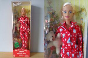 Vintage Christmas Morning Barbie Doll w/ Adorable Teddy Bear NEW