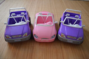 3 BARBIE CARS IN GREAT CONDITION