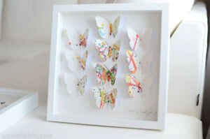 Ikea butterfly painting with frame