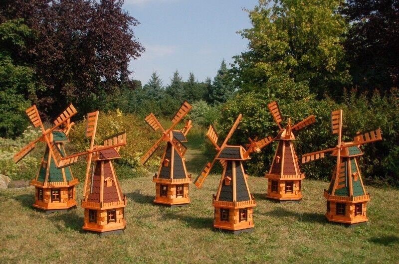 Standard 1,30m oder XXL 1,45m Windmühle, Kugelgelagerte Flügel, wahlw. mit Solar