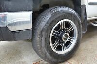 ** 4 New Michelin LT245-75-17  10 ply tires on new rims **
