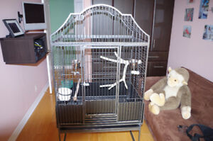 """Iron Cage,Wd 34"""", Ht 67"""",Dp 24"""", moved to Condo"""