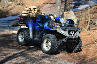 2007 Sportsman 800 X2 EFI with Plow - Excellent condition