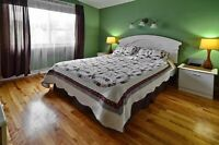White bedroom set, available around september 1st.