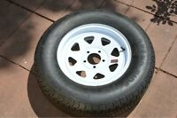 """** 15"""" radial Trailer Tire and rim  (NEW) **"""
