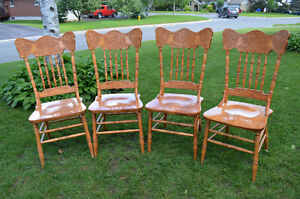 Beautiful Solid Maple Pressback Chairs-Set of 4!