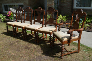 Set of 5 Dining Chairs
