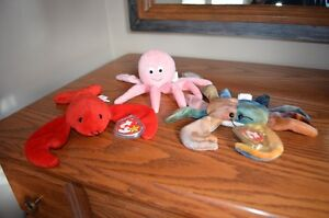 Ty Beanie Babies *Retired & Rare* - Set of 7 Ocean Creatures II