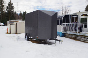 """6'X 12' Enclosed Trailer with 18"""" V-Nose, 7' Ceiling ,CARGO DOOR"""
