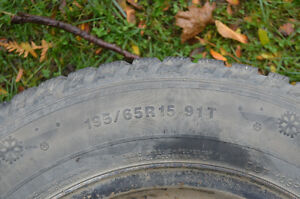 Four Winter Tires on rims in EUC Peterborough Peterborough Area image 2