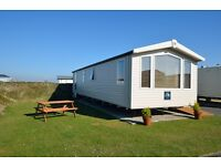 Luxury caravan for hire at Perran sands Cornwall. Two weeks left Aug only