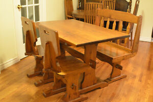 Cute Vintage Solid Knotty Pine Dining Set