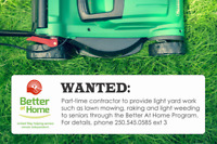 WANTED: Part-time Light Yard Work Contractor