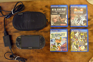 PS VITA – Comes with 5 games, charger and a 32 GB memory card