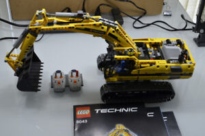 MINT CONDITION - LEGO 8043 Motorized Excavator Dual Remote PF