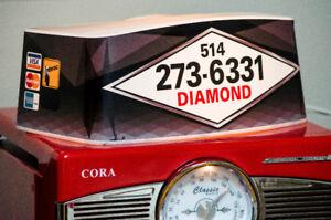 Dome de taxi Globe lumineux. DIAMOND