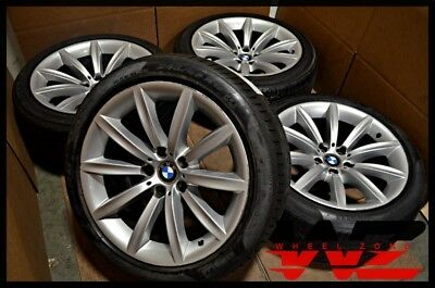 "2002-2008 19"" BMW 7 Series Staggered Wheels Tires Factory OEM 6774705 6774706"
