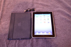 iPad 16GB Black/Silver with Case and Charger