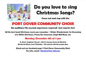 Sing Christmas Songs with the Port Dover Community Choir