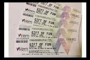 West Edmonton Mall Waterpark / Galaxyland tickets
