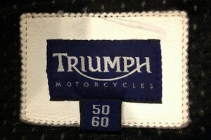 Triumph Leather Motorcycle Jacket Sarnia Sarnia Area image 3
