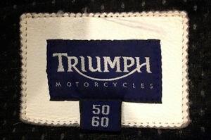 Triumph Leather Motorcycle Jacket Sarnia Sarnia Area image 3