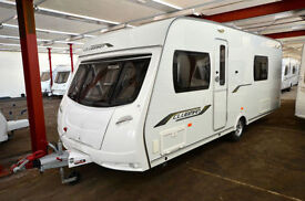 2010 Lunar Clubman SE 4 Berth Touring Caravan with Fixed Bed