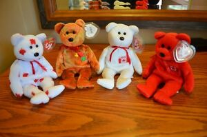 Ty Beanie Babies *Retired & Rare* - Set of 4 Canadian Exclusives