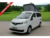 2010 NISSAN NV200 1.6 PETROL AUTO, MOTOR CAMPER, 2 BERTH, ELEVATING ROOF