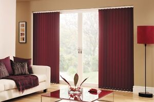 Vertical Blinds-Burgendy Fabric