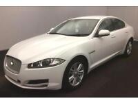 2014 WHITE JAGUAR XF 2.2 D 163 LUXURY DIESEL 4DR SALOON CAR FINANCE FR £50 PW
