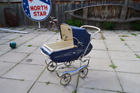 Funky Vintage 1950s Gendron baby carriage family heirloom